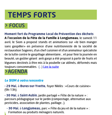 Temps forts : Focus