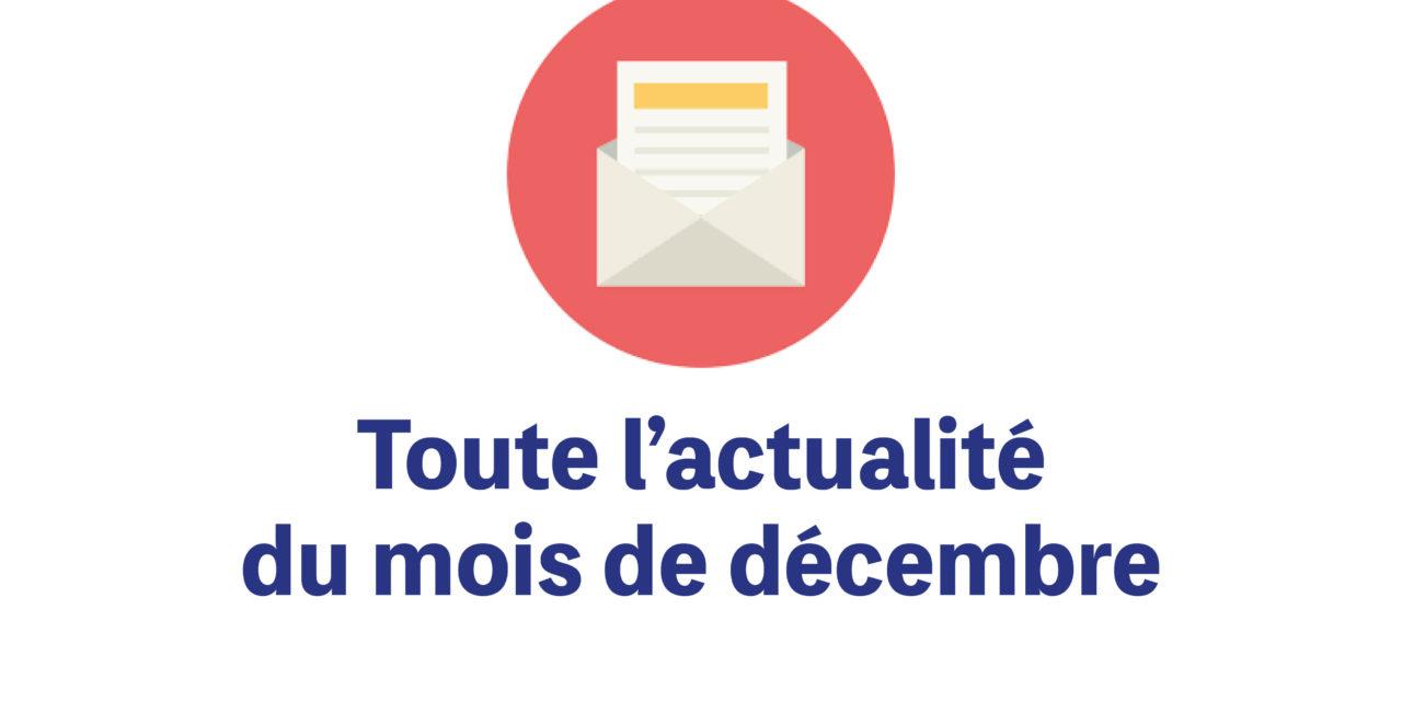 La newsletter du mois de décembre