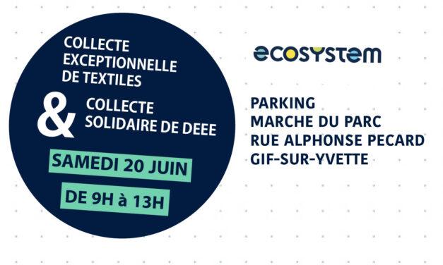 Collecte exceptionnelle de textiles et collecte solidaire DEEE à Gif-sur-Yvette